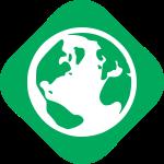 Green party values - globe